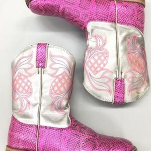 Ladies Fancy Cowgirl Hot Pink Western Justin Boots